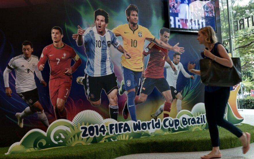 Birželio 12 d. Brazilijoje prasideda pasaulio futbolo čempionatas