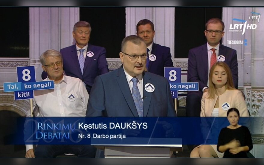 Kęstutis Daukšys during the TV debate