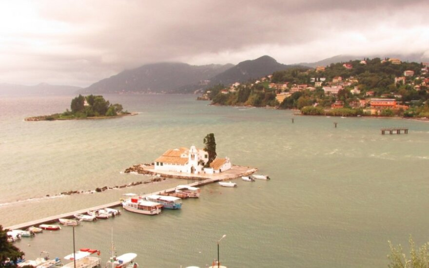 Corfu salos grožis