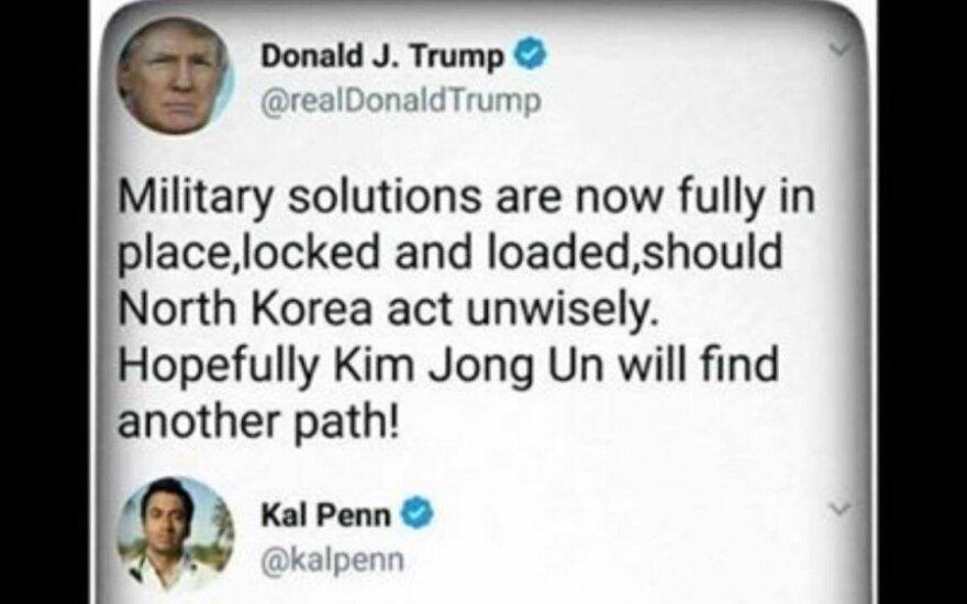 Vyras paskundė D. Trumpą tviteriui dėl grasinimo branduoliniu karu