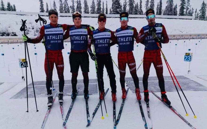 Lukas Jakeliūnas, Linas Banys, Maksimas Fominas, Jokūbas Mačkinė, Nikita Romanovas / Foto: Biatlono federacija