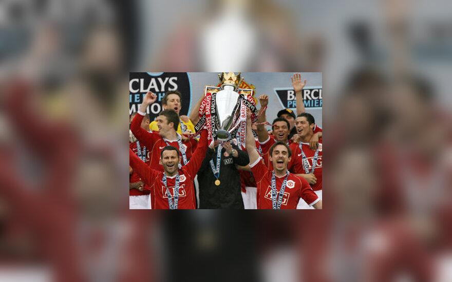 """""""Manchester United"""" - Anglijos """"Premier"""" lygos čempionas"""