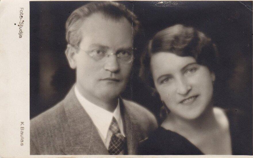 Vincas Mykolaitis-Putinas ir Emilija Kvedaraitė