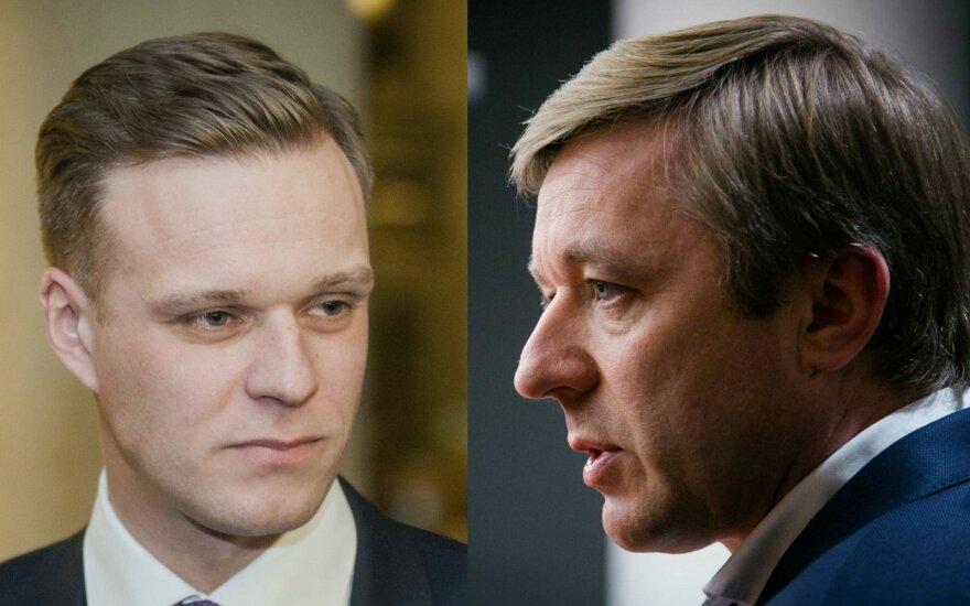 Gabrielius Landsbergis (TS-LKD) and Ramūnas Karbauskis (LVŽS)
