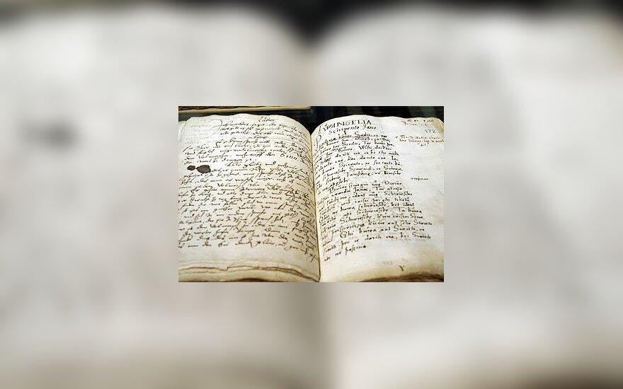 J.Bretkūno išverstos Biblijos rankraštis