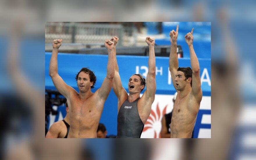JAV plaukikai pasaulio čempionatą baigė rekordu