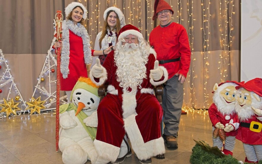 The Real Finnish Santa at the 2017 International Christmas Charity Bazaar in Vilnius