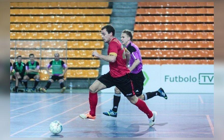 Salės futbolas (Roko Tenio nuotr.)