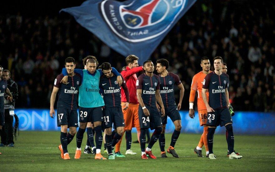 """""""Paris Saint Germain"""" klubas sekmadienį apgynė čempionų titulą."""