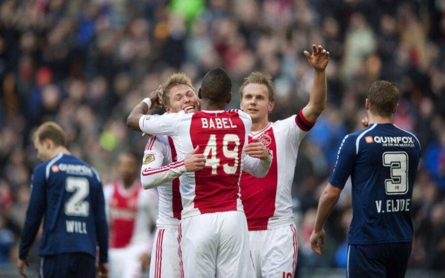 """Amsterdamo """"Ajax"""" futbolininkų džiaugsmas"""