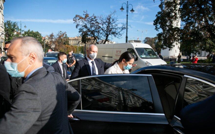 Cichanouskaja po susitikimo su Macronu Vilniuje: jis pažadėjo padaryti viską, kad padėtų derybose