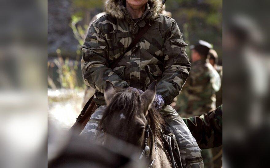 Vladimiras Putinas ant žirgo