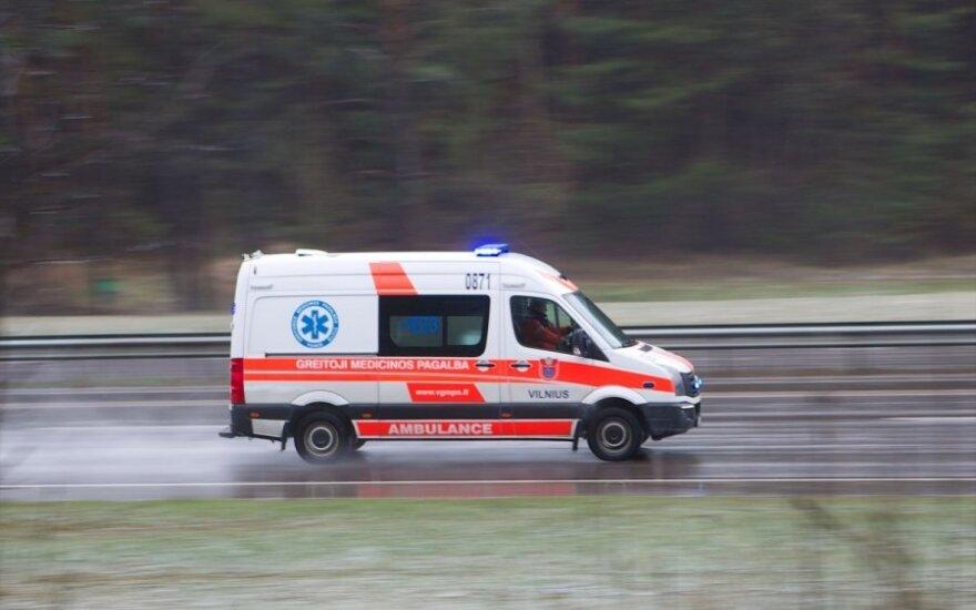Šalia Elektrėnų apsivertė automobilis, nukentėjo du vaikai