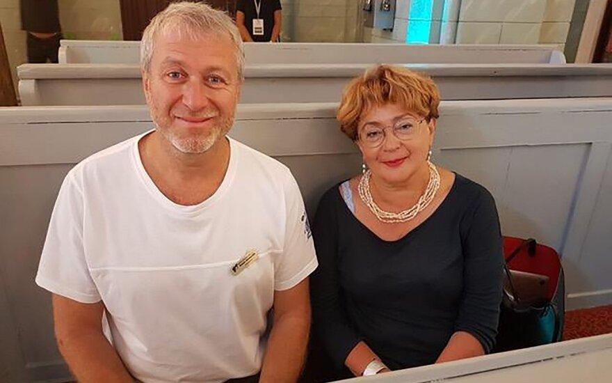 Roman Abramovich and Faina Kukliansky in Vilnius