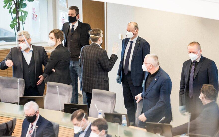 Seimas turėtų apsispręsti dėl subsidijų verslui po karantino, vienkartinės išmokos daliai gyventojų