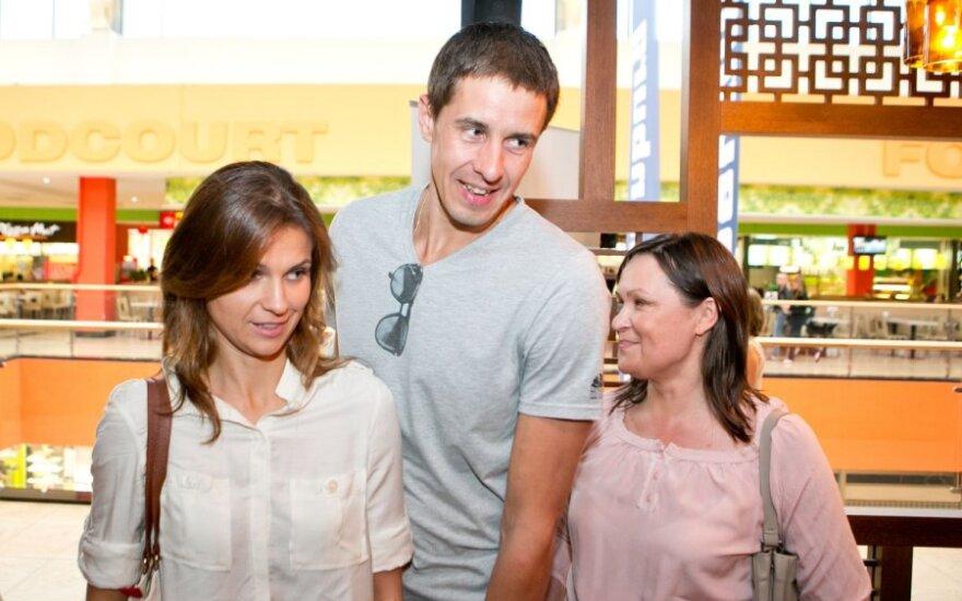 Mindaugas Lukauskis su žmona