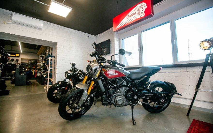"""Lietuvoje pradedama prekyba legendiniais """"Indian"""" motociklais"""