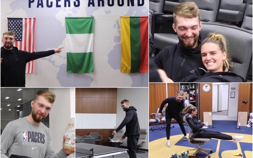 """Domantas Sabonis, Shashana ir ekskursija po """"Pacers"""" treniruočių kompleksą"""
