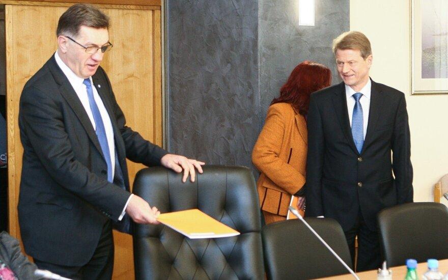 PM Algirdas Butkevičius, Order and Justice leader Rolandas Paksas