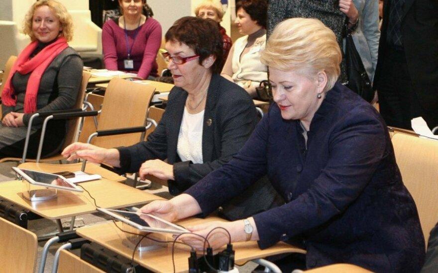 Virginija Būdienė and President Dalia Grybauskaitė