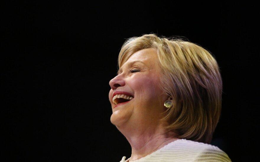 Hillary Clinton laimėjo paskutinius demokratų pirminius rinkimus