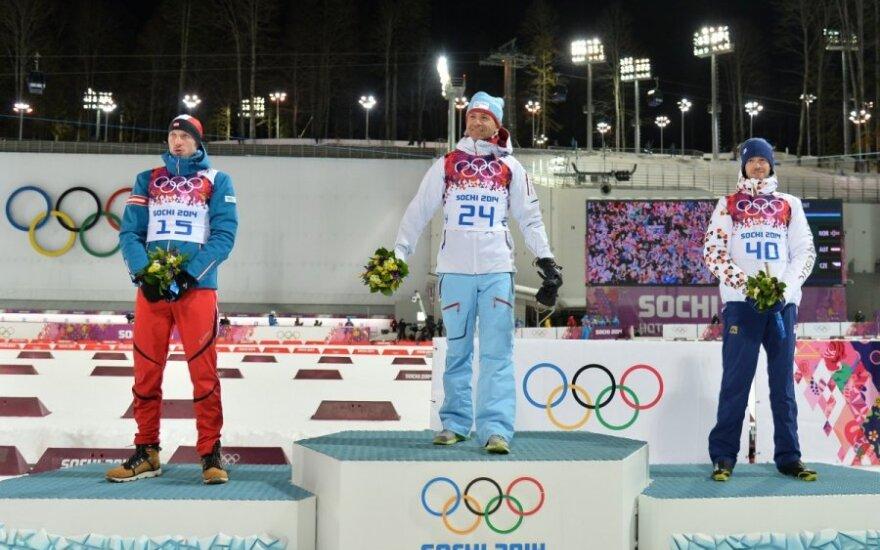 Austras Dominikas Landertingeris, norvegas Ole Einaras Bjoerndalenas ir čekas Jaroslavas Soukupas