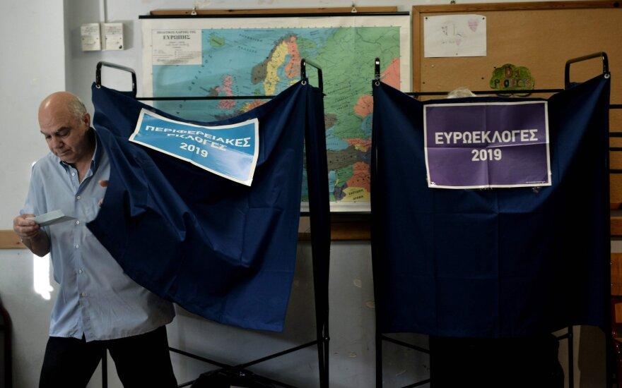 Apklausa: parlamento rinkimus Graikijoje laimėjo konservatoriai