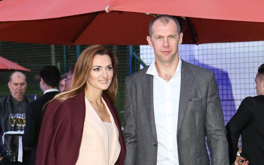 Ramūnas Šiškauskas su žmona