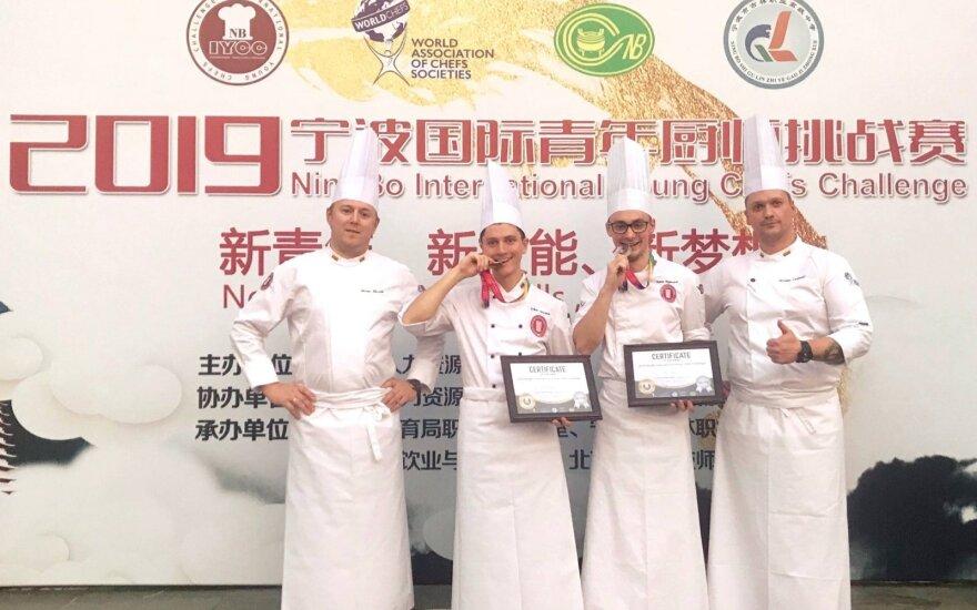 Lietuviai jaunųjų šefų čempionate Kinijoje iškovojo sidabrą
