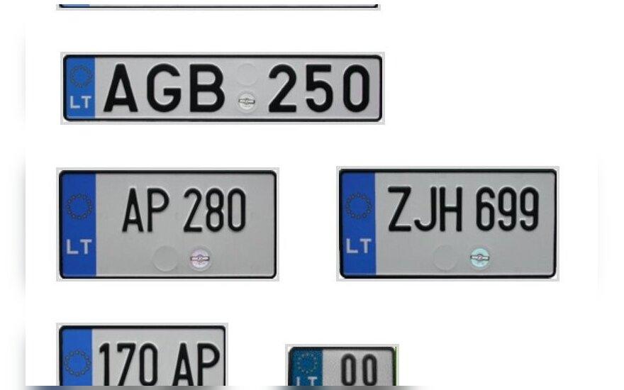 """""""Regitra"""": automobilio numerio ženklus galima pasikeisti internetu arba atvykus į bet kurį padalinį"""