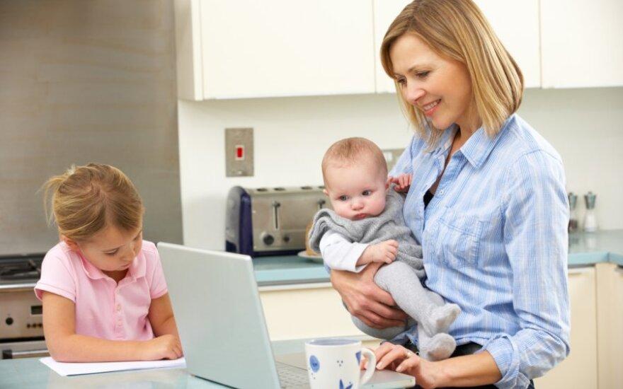 Daugiavaikė mama: kur dirbti, kad nesulaukčiau priekaištų, jog turiu per daug vaikų