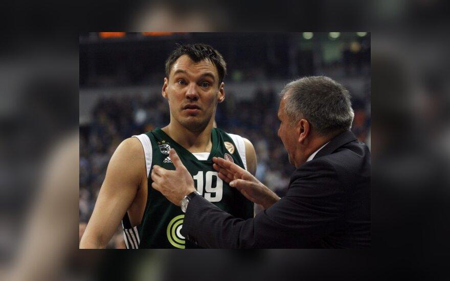 """Š.Jasikevičius svariai prisidėjo prie """"Panathinaikos"""" pergalės"""