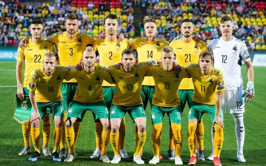 Lietuvos rinktinė FIFA reitinge išliko 132-a, grėsmę kelia Sent Kitsas ir Nevis