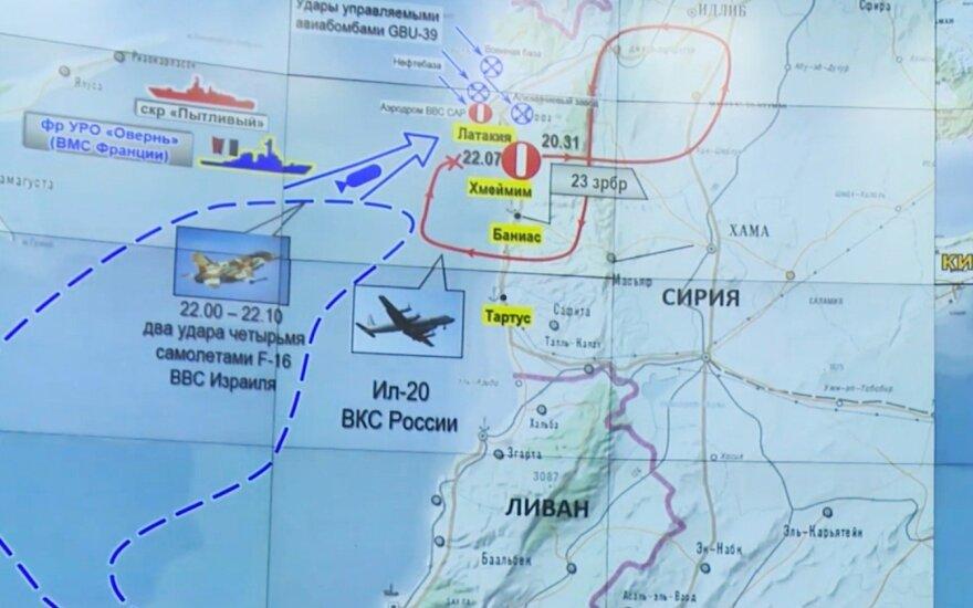 Vašingtonas išreiškė apgailestavimą dėl rusų lėktuvo numušimo Sirijoje