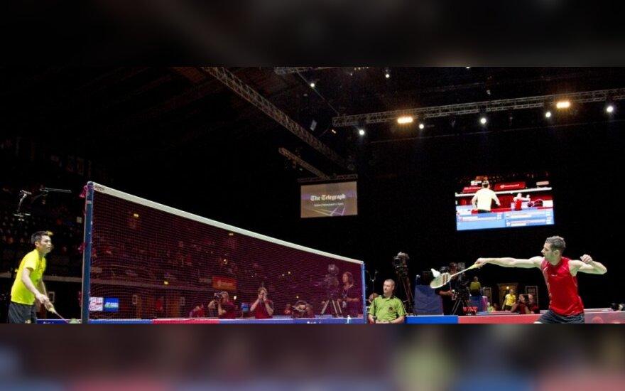 Lietuvos vyrų badmintono rinktinė nusileido ir ukrainiečiams