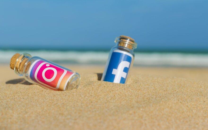 Facebook ir Instagram sumažins vaizdo kokybę Europoje