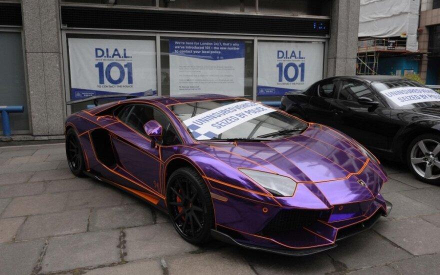 Policijos sulaikytas Lamborghini Aventador