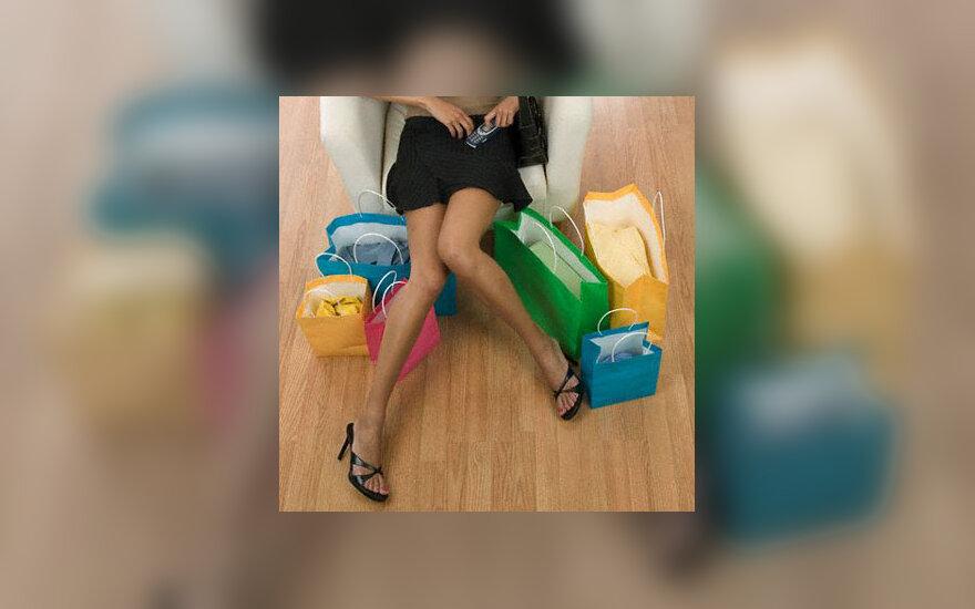 Parduotuvė, kojos, pirkiniai