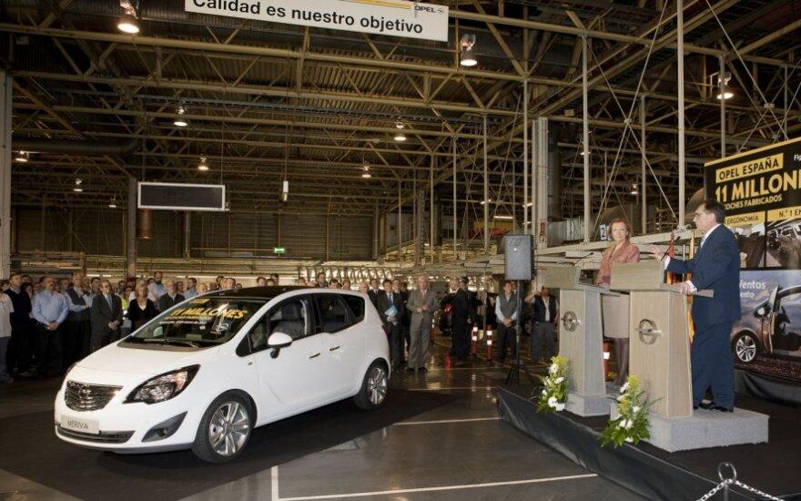 Jubiliejinis Opel Meriva automobilis