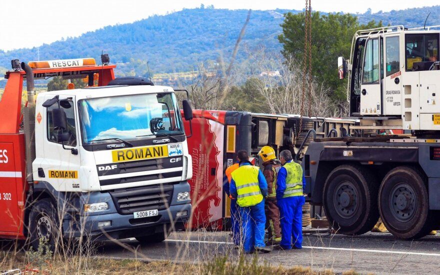 Lithuanian exchange student suffered 'minor injuries' in Spain bus crash