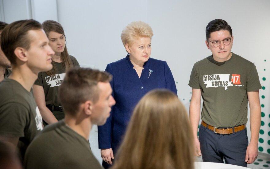 """D. Grybauskaitė išlydi """"Misijos Sibiras"""" dalyvius"""