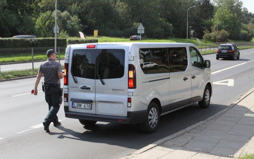Vienoje Vilniaus gatvėje per pusantros valandos nubausti 24 greičio mėgėjai
