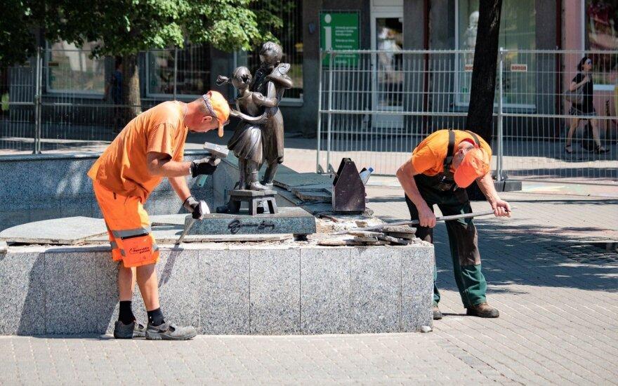 Prasidėjo Panevėžio centrinės aikštės rekonstrukcija: projektą laiko išskirtiniu