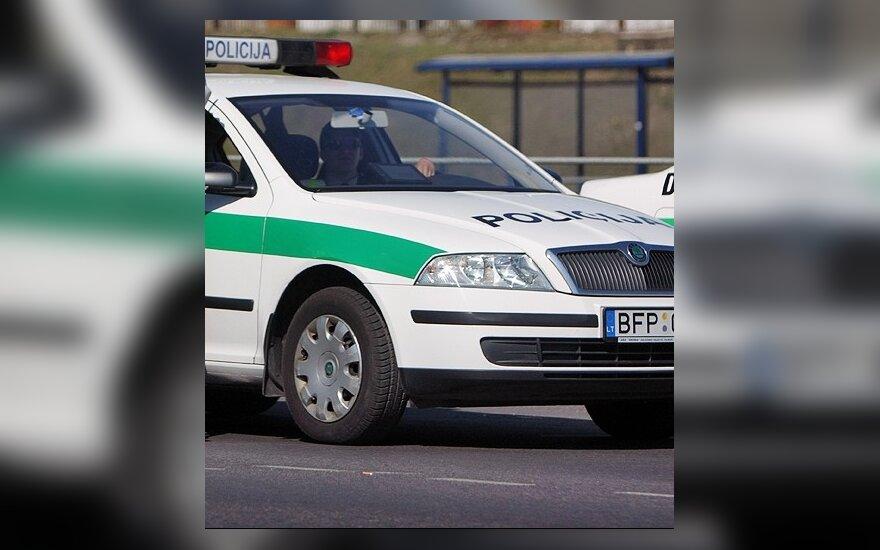 Užsižiopsojusi moteris kaime taranavo policijos automobilį