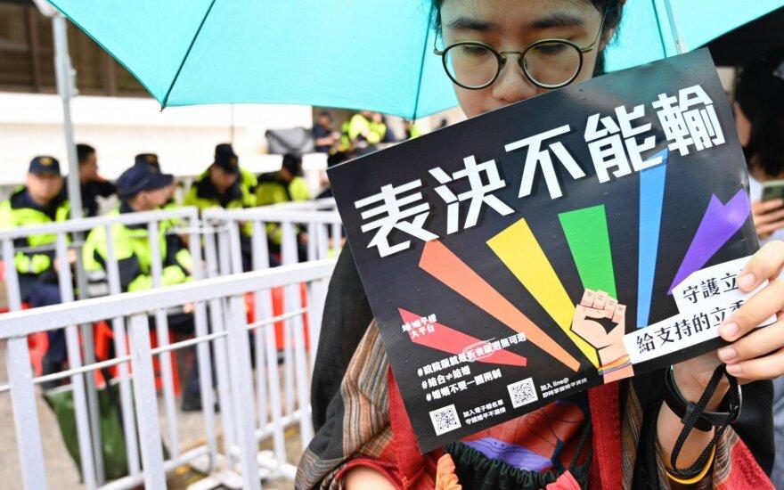 Taivano parlamentas pritarė tos pačios lyties asmenų santuokų įteisinimui