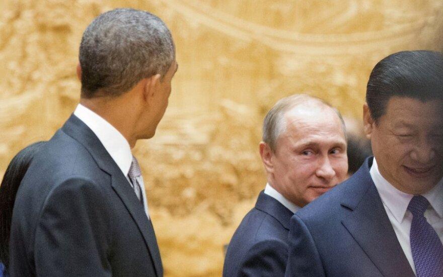 Barack Obama, Vladimir Putin, Xi Jinping