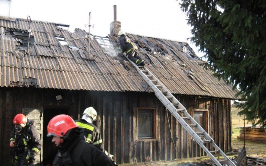 Ugnis senolę paliko be namų