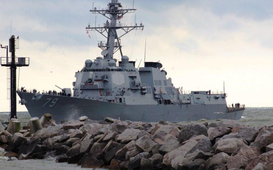 Į Klaipėdą atplaukė JAV karo laivas