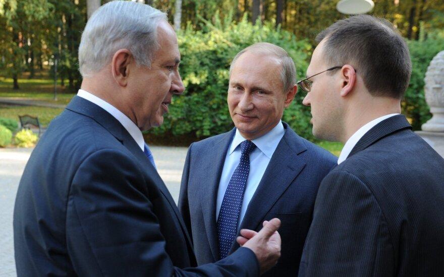 Benajamin Netanyahu meeting Vladimir Putin