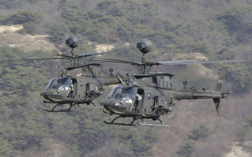 """""""Kiowa Warrior OH-58D"""" tipo sraigtasparnis"""